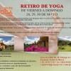 Retiro de Yoga de viernes a domingo 28, 29, 30 de mayo