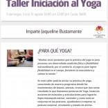 Taller de iniciación al Yoga